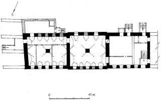 План 1-го этажа флигеля