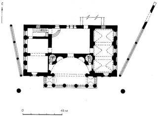 План 1-го этажа здания