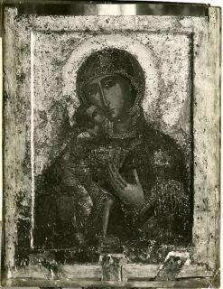 Феодоровская икона Божией Матери. Итоговое фото реставрации 1919 г.