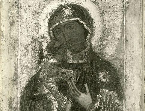 Феодоровская икона Божией Матери. Итоговое фото реставрации 1929 г.